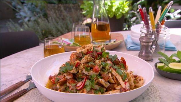 Karen Martini: BBQ prawn and calamari salad, Ep 8 (27.03.15)