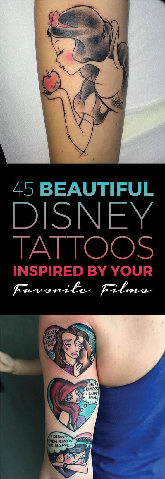 45 Beautiful Disney Tattoos Inspired by Your Favorite Films   TattooBlend