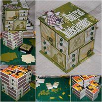Mini cassettiera costruita con il #RicicloCreativo delle scatole di fiammiferi  SEGUICI SU: www.facebook.com/CreoEco