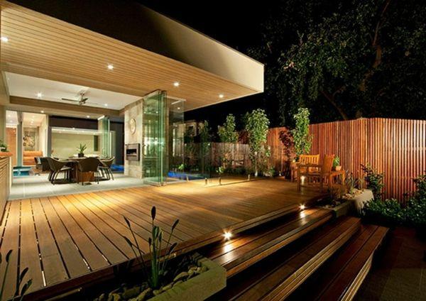 Terrasse en bois ou composite id es merveilleuses pour l 39 ext rieur ext rieurs for Idee terrasse contemporaine