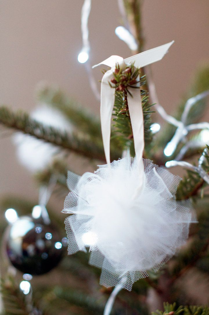 DIY Christmas tree decorations : Tulle baubles - Clones N Clowns by Aimee Wood
