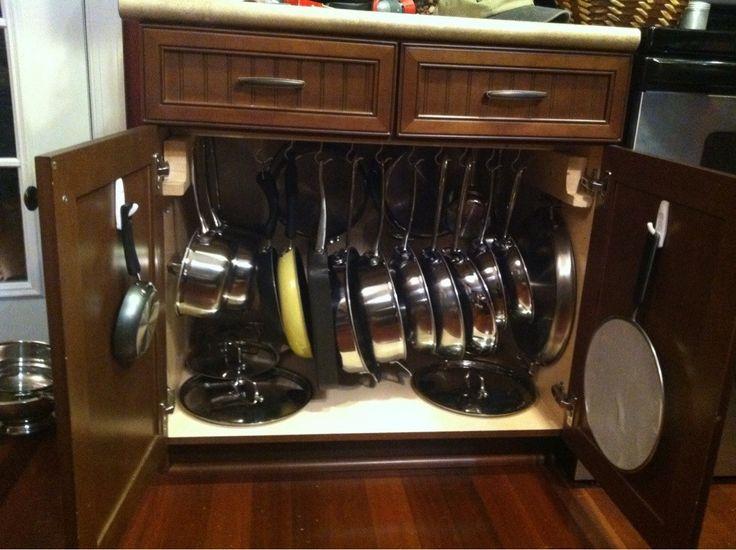 Kitchen Storage Ideas For Pots And Pans 13 best pots and pans storage images on pinterest | kitchen