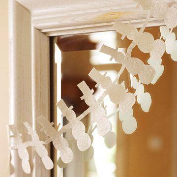 Snowman Garland & other snowman crafts