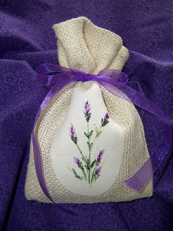 Burlap Lavender Sachet by CozyExpressions on Etsy