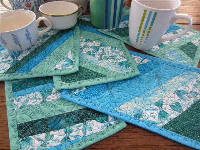 Quilted Placemats From Marciascraftysewing Blog