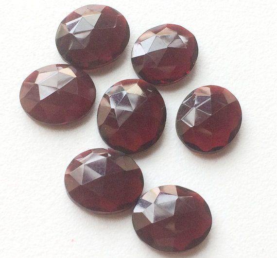 WHOLESALE 10 Pcs Ruby Red Crystal Quartz Rose Cut by gemsforjewels