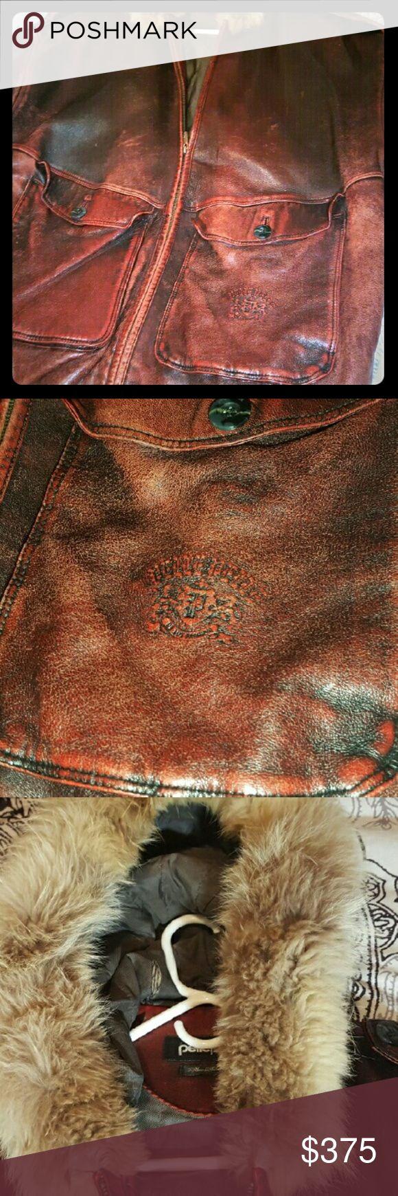 Rare vintage burgandy colored pelle pelle Rare vintage burgandy colored pelle pelle heavy and very warm... this is my favorite leather jacket... pelle pelle Jackets & Coats