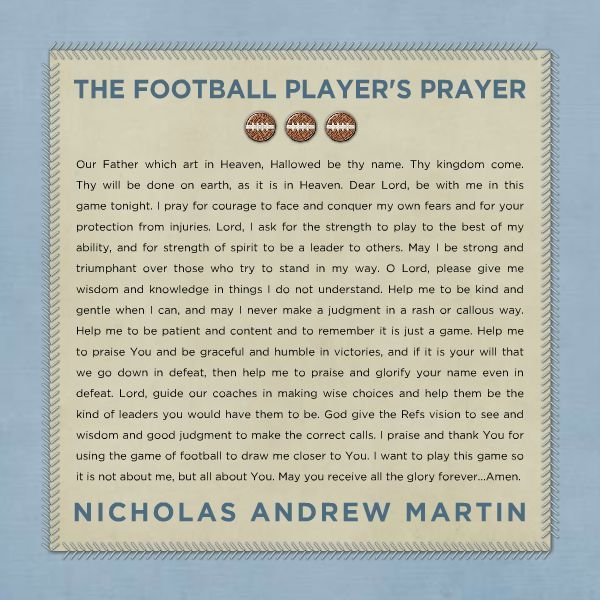 HM Gallery - Football Player's Prayer