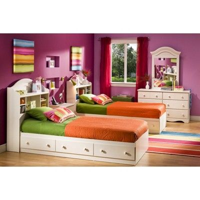 Bookcase Kids Headboard Vanilla (Twin) - South Shore