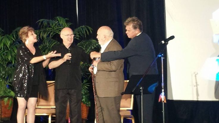 Ed Asner, James Alburger and Penny Abshire at VOICE2014