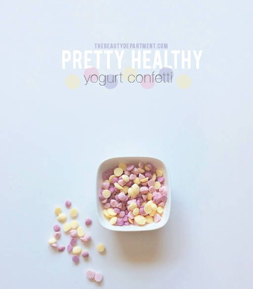 Frozen fruity yogurt confetti. The Beauty Department: Your Daily Dose of Pretty. - Beauty Bites