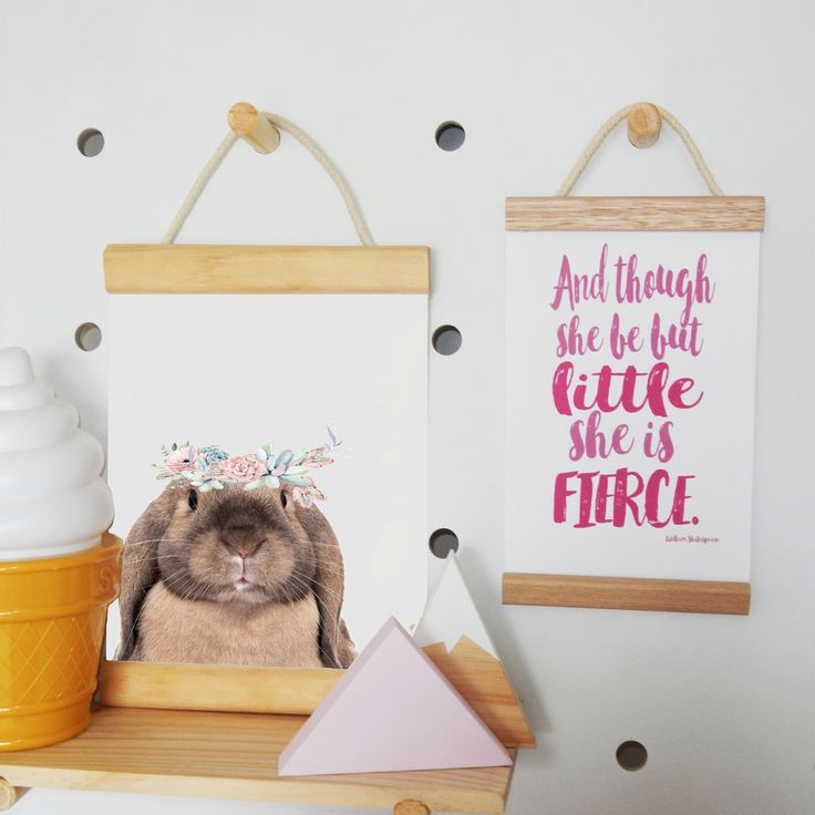 Boho Bunny Print & Fierce Mini Banner