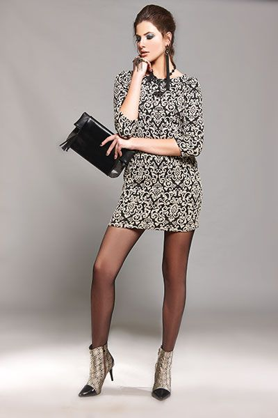 A brocade mini dress is our choice for Valentine's Day!