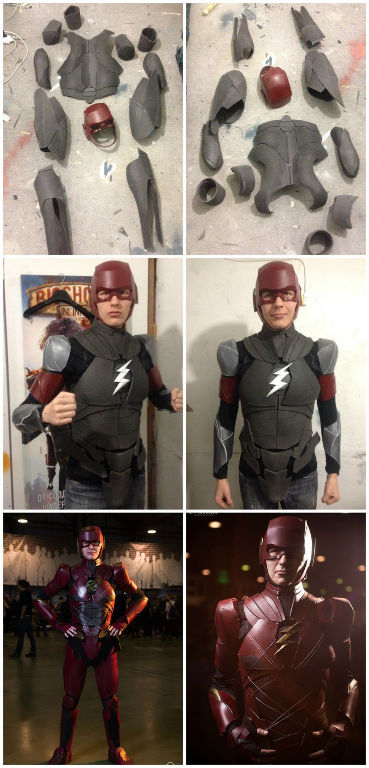 See full suit here)  Foam Flash cosplay costume armor!
