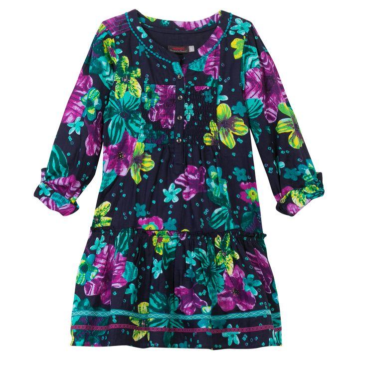 Vestido índigo de flores F/W14