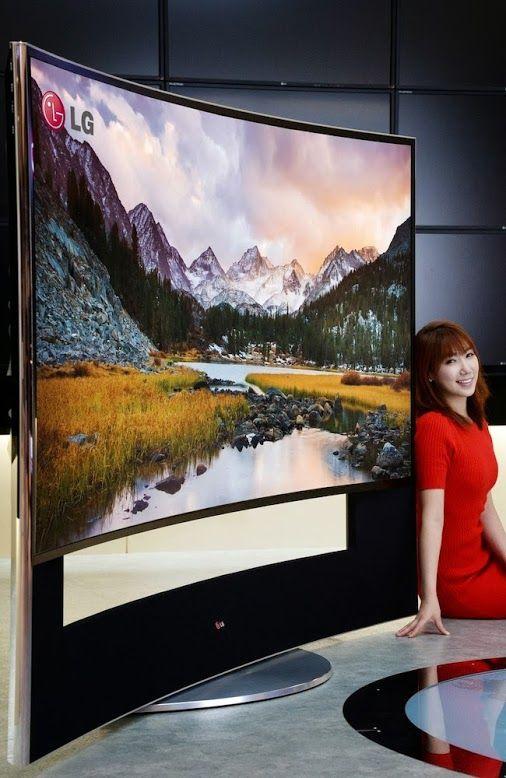 LG 105 inch Curved Ultra HD TV