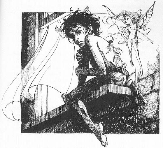 Peter Pan and Tinkerbell by Trina Schart Hyman