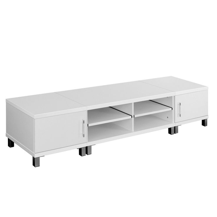 TV Stand Entertainment Unit 190cm Lowline Plasma LCD LED Cabinet Drawer White