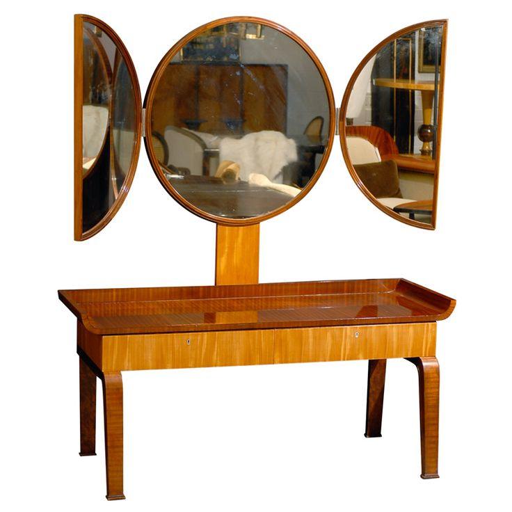 Elegant swedish art deco moderne dressing table attributed for Diy art deco furniture