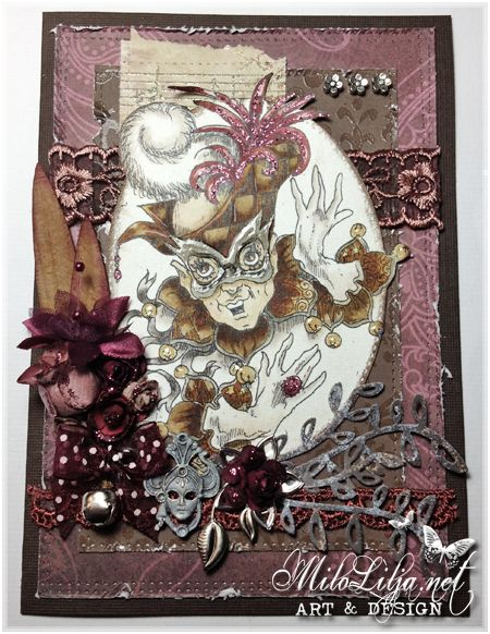 "Created by MiloLilja - Sweden • Instagram: milolilja • Pinterest: milolilja • Facebook: ""Milo Lilja - Art & Design"" • #scrapbooking #crafting #art #milolilja #cardmaking #paperart #shabbychic #artist #vintage #handmade #rickstdennis"