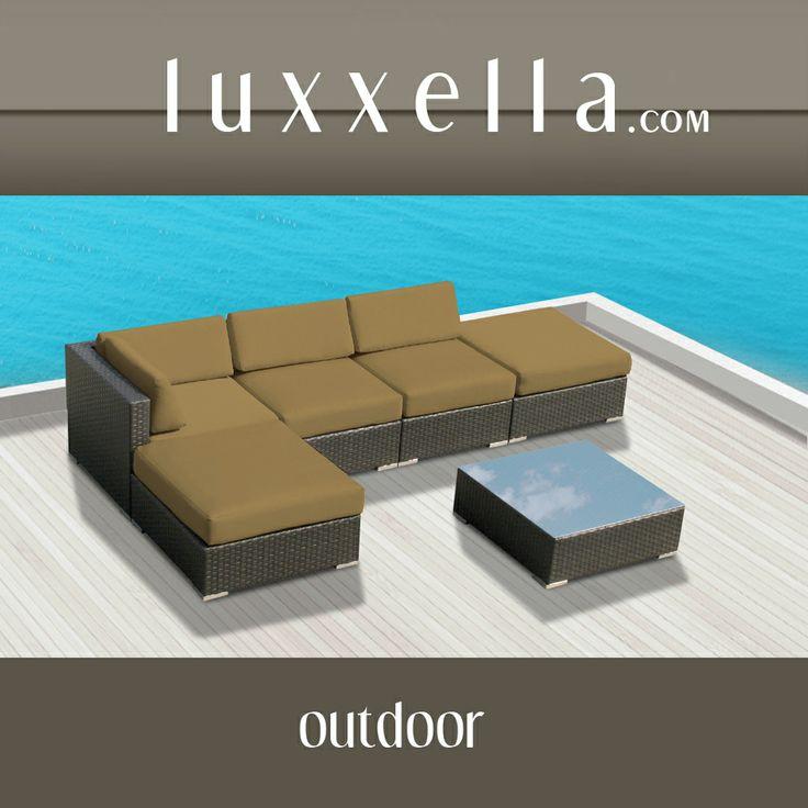 Gazebo 6 pc Wicker Modern Patio Furniture