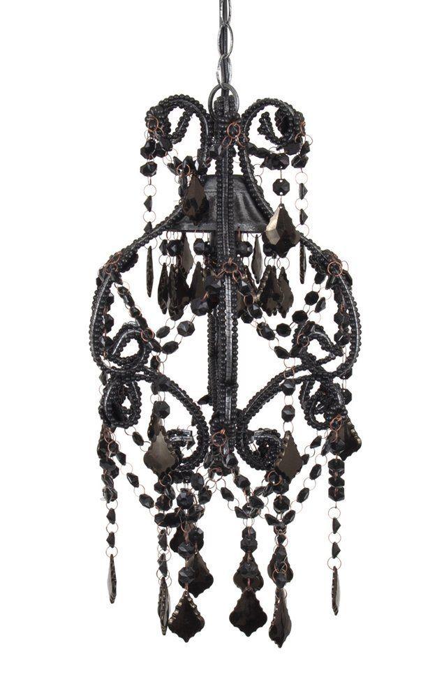 21 best overhead lighting images on pinterest ceiling lighting amazon molly n me black flourish beaded lamp chandelier aloadofball Gallery