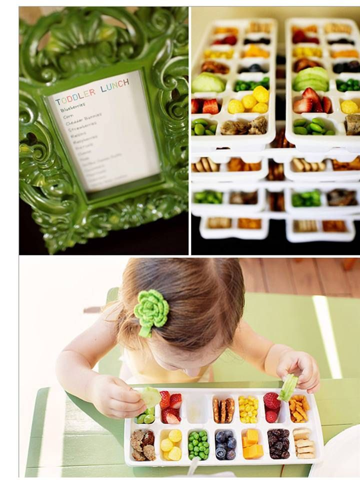 Toddler Buffet | this is such a great idea for little guests and little fingers <3