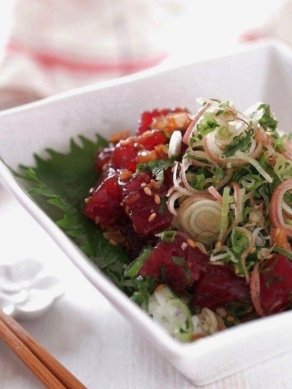 まぐろの食べるラー油漬け丼 by 盛りつけ師★もりたとしこ | レシピサイト「Nadia | ナディア」プロの料理を無料で検索