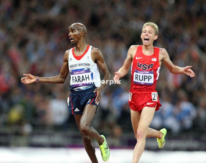 Team GB athlete Mo Farah who won the Gold medal in the 10,000m at the 2012 London Olympics.