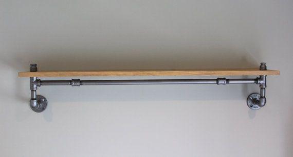 Industrial Pipe Shelving: Rustic Shelving Pipe от HouseofCrazi