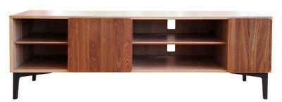Meuble TV Svelto / L 164 x H 55 cm Bois naturel / Pieds noirs - Ercol - Décoration et mobilier design avec Made in Design