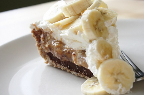 Black Bottom Banana Pie with Pretzel Crust. | Dad, Pappa, Sweetie Pie ...