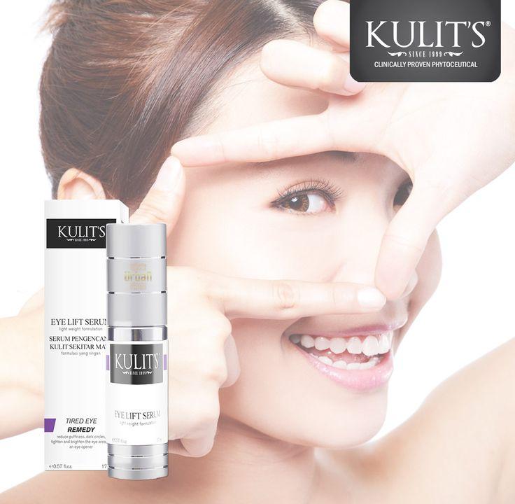 Kulit's Eye Lift Serum - 17 ml - Untuk mengurangi bengkak, lingkaran hitam, serta mengencangkan dan mencerahkan kulit di area mata - Line: @urbandepo WA: 0811890101 #beauty #cantik #kulits #skincare #antiaging #awetmuda #stayyoung #youngerskin #Smoothskin #kulithalus #BPOMApproved #QualityControlled #ClinicallyProvenPhytoceuticals #kulit's #kulitsskincare #kulitsehat #nomercury #naturalingridients #naturalskincare