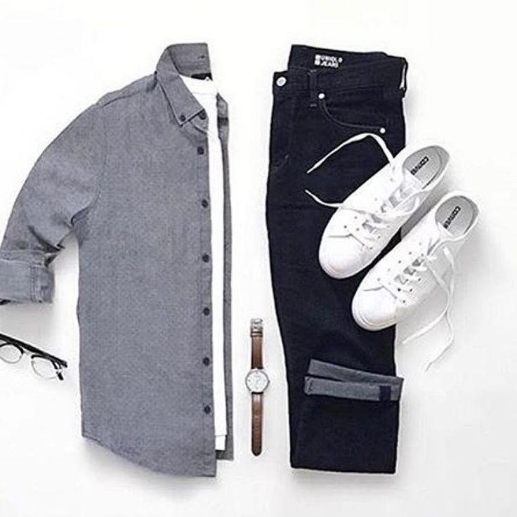 """4,051 Likes, 9 Comments - Michael Allen (@mallenpics) on Instagram: """"@jeromeguerzon  Shirt: @cottonon Tee: @uniqlo Jeans: @uniqlo Shoes: @converse Watch:…"""""""