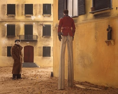 Stilt walker from Winter Stories by Paolo Ventura