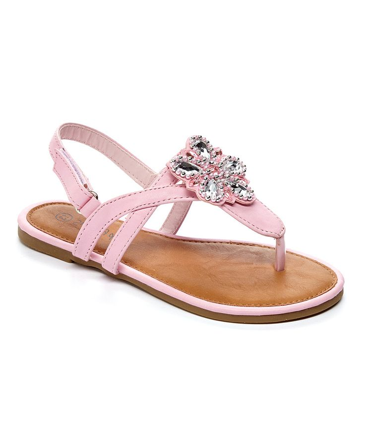 Look at this RCK Bella Pink Flower T-Strap Sandal on #zulily today!