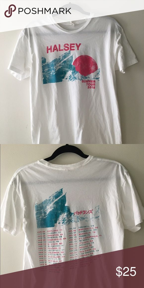 HALSEY CONCERT TEE Halsey Summer Tour 2015 tee. Purchased at Firefly Music Festival. Lightly worn. Halsey Tops Tees - Short Sleeve