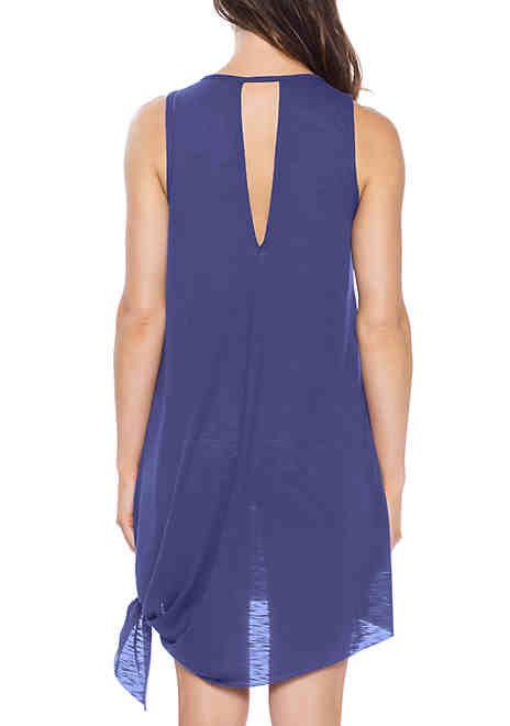 faf26b4277 Becca Breezy Basics High Neck Swim Cover Up Dress | Summer Fashion ...