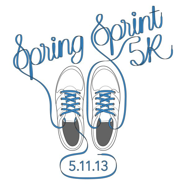 Spring Sprint T-Shirt Design by Paul Hjellming, via Behance Run for the  Roses.