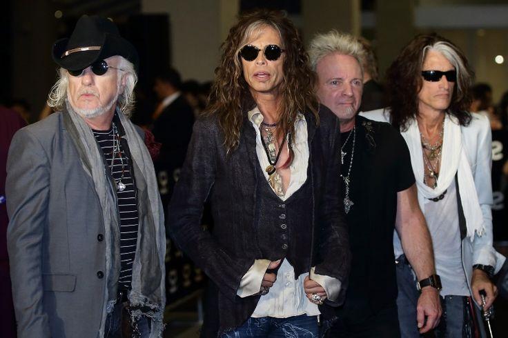 Aerosmith | GRAMMY.comAerosmith Arrival, Stars Awards, Rocks Stars, 1St, Aerosmith Steven Tyler, Pop Stars, Social Stars, Cool Rocks, Aerosmithsteven Tyler