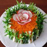 салат с копченой куриной грудкой фото