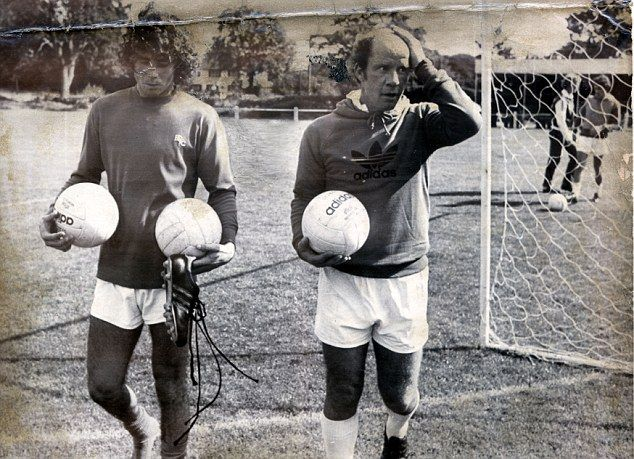 World Cup winner Alberto Tarantini with Blues manager Jim Smith. Tarantini played 23 times for Blues during his brief stay at St Andrew's (1978/79).
