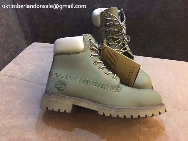 Classic Army Green-White Men Timberland 6 Inch Footwear $95.99