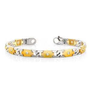 Ein Diamantarmband mit 2.00 Karat Diamanten aus 585er Gelbgold und Weißgold gefertigt. Dieses Diamantarmband ist erhältlich bei www.juwelierhausabt.de in Dortmund.