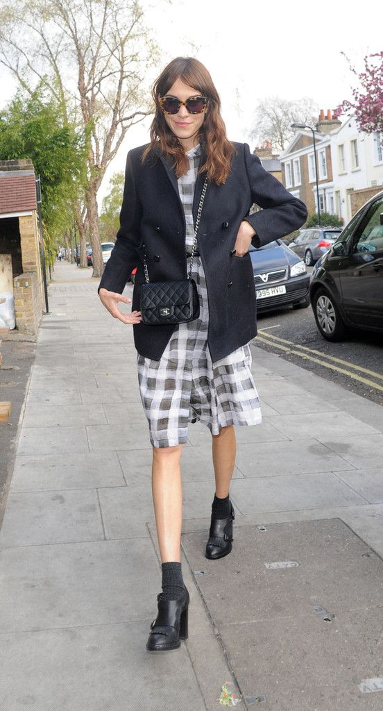 Easy Outfit Upgrade: Let Socks Peek Out from Your Boots / Alexa Chung