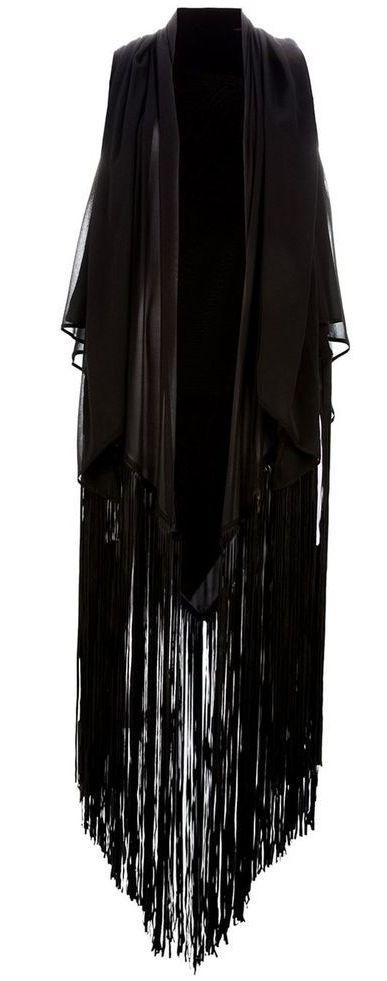 tasseled oversize shawl....for night flights bats <3