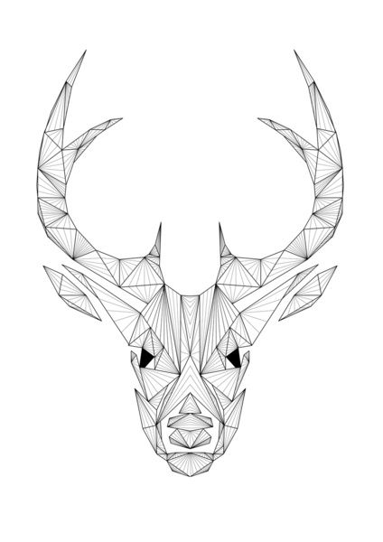 Deer Art Print...def printing for my little brother