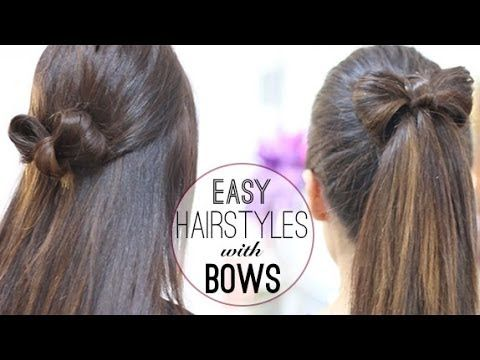 Patryjordan Easy Hairstyles For Short Hair : Hairstyles with bows Cute hairstyles Pinterest