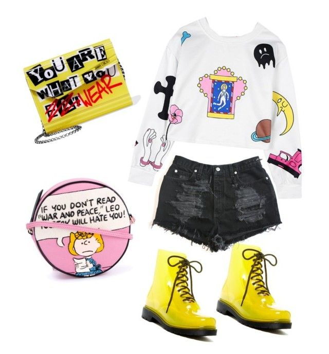 """""""Going crazy"""" by amaliamatei on Polyvore featuring Furla, Chicnova Fashion, Jimmy Choo, Olympia Le-Tan, colours, Sweatshirt and crazybags"""