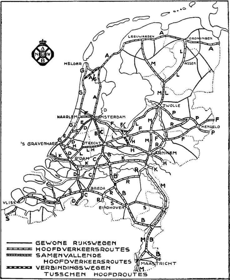 Vanaf 1937 werd het Nederlandse wegennet voor het eerst voorzien van wegnummering op de bewegwijzering ten behoeve van de automobilist. Het waren toen alleen nog geen wegnummers, maar wegletters. Elke rijksweg die werd aangewezen als 'hoofdverkeersroute' kreeg een letter. In Drenthe waren er slechts twee. Route L (Rotterdam - Groningen) liep via rijksweg 31; route M (Maastricht - Leeuwarden) liep tot de Pijlebrug samen met route L via rijksweg 31 en verder richting het noorden via rijksweg…